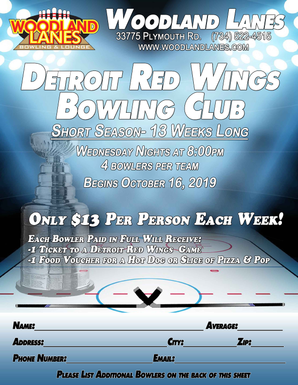 Wednesday Red Wings Flyer 2